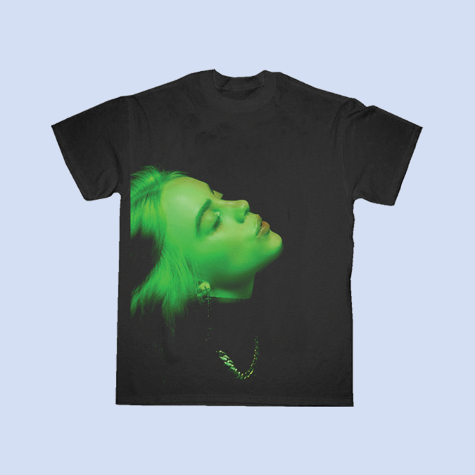 Billie Eilish: STAY HOME BLACK AND GREEN TOUR T-shirt – Proceeds Donated