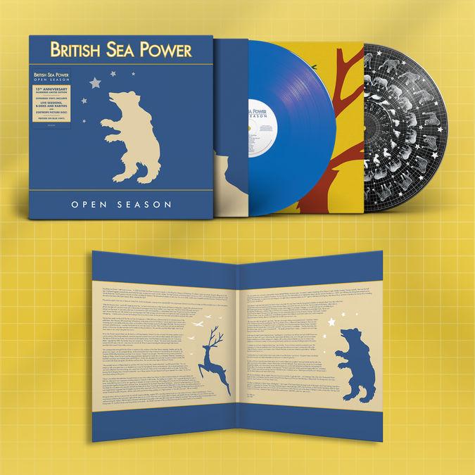 British Sea Power: Open Season: Limited 15th Anniversary Edition Blue + Zoetrope Vinyl