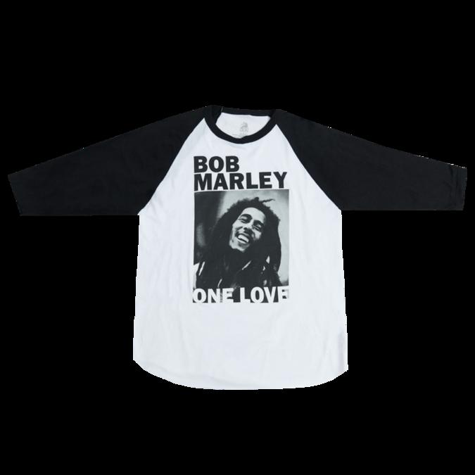 Bob Marley: One Love B&W Ladies Raglan