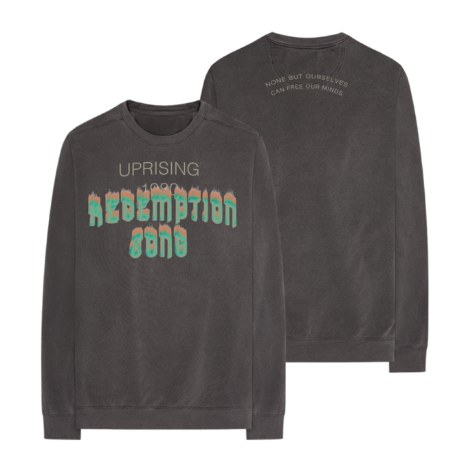 Bob Marley: Redemption Song Long Sleeve Crew S