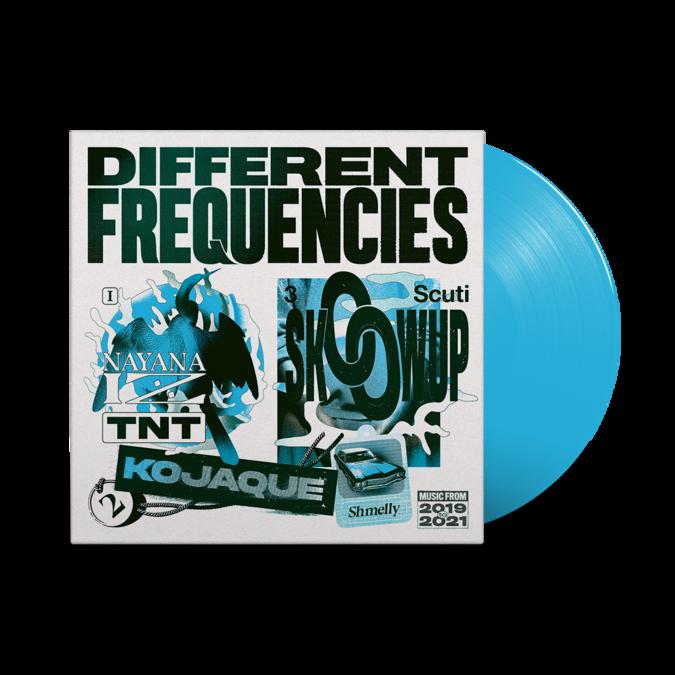 Various Artists: Different Frequencies: Transparent Blue Vinyl LP