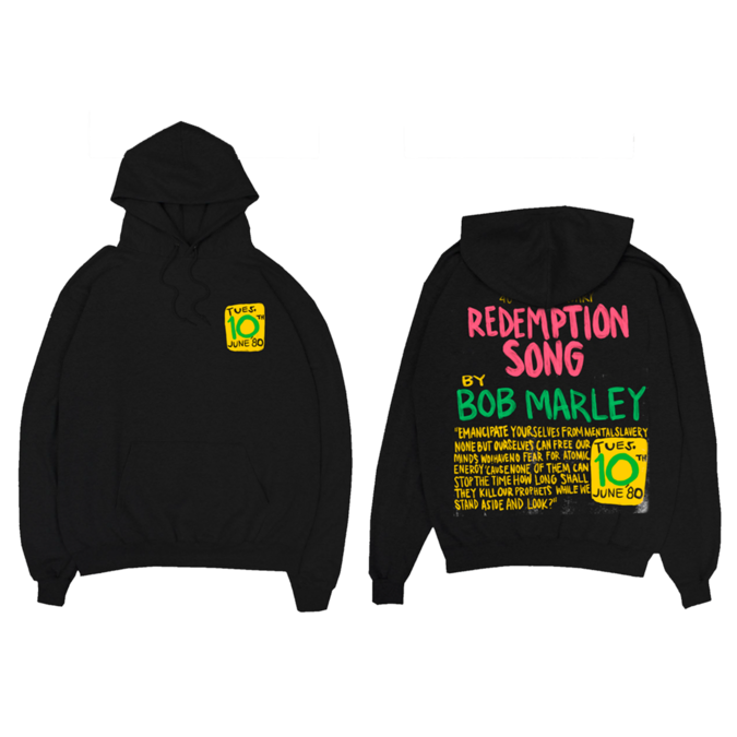 Bob Marley: Redemption Song Pullover Hoodie M