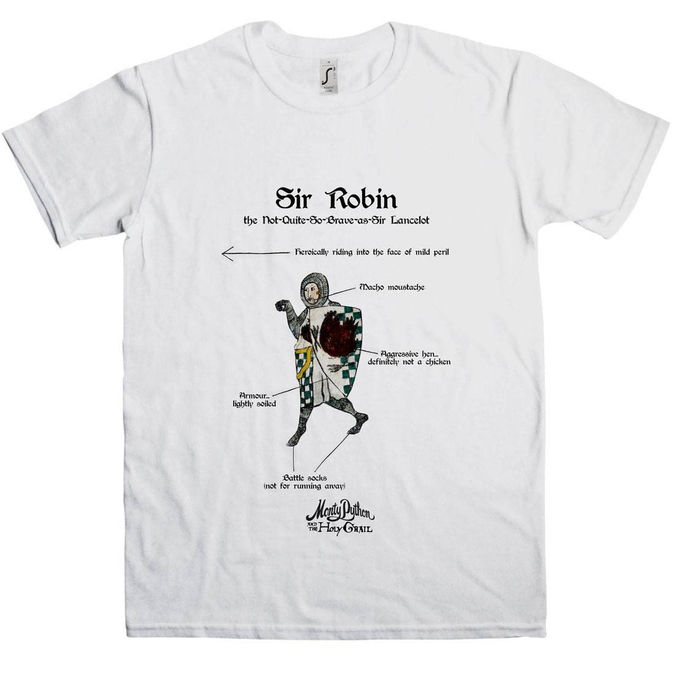 Monty Python: Holy Grail Sir Robin T-Shirt