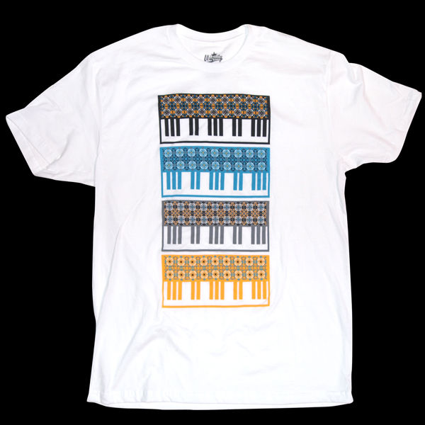 Ubiquity Records: Keyboard Pattern Small T-Shirt