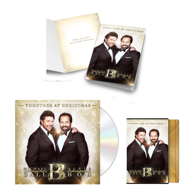 Michael Ball & Alfie Boe: Together At Christmas Signed Card Bundle