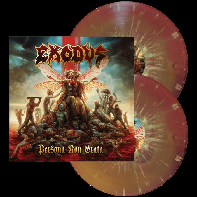 Exodus: Persona Non Grata: Limited Edition Purple & Yellow Swirl With Mint Green & Bone Splatter Vinyl 2LP