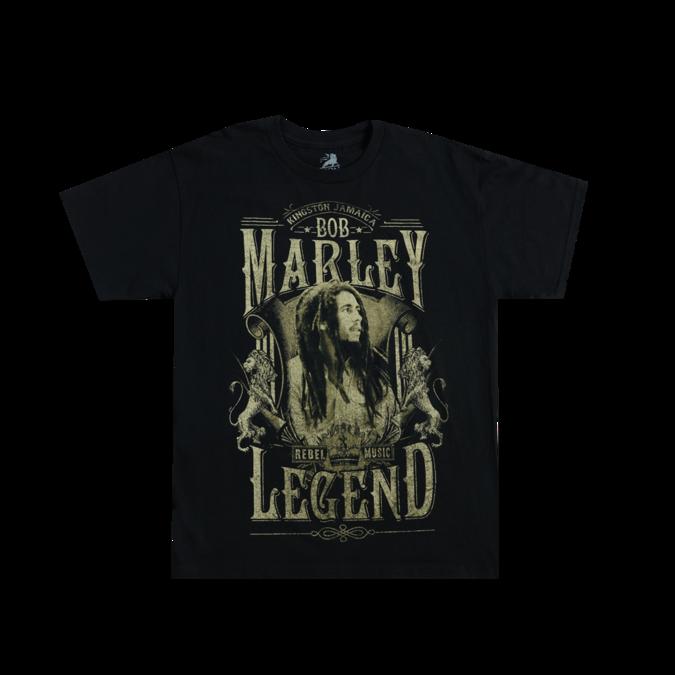 Bob Marley: Rebel Legend Black T-Shirt S