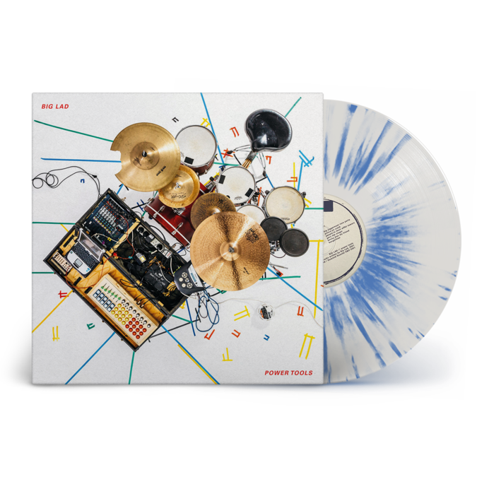Big Lad : Power Tools: Signed Exclusive White + Blue Splatter Vinyl LP