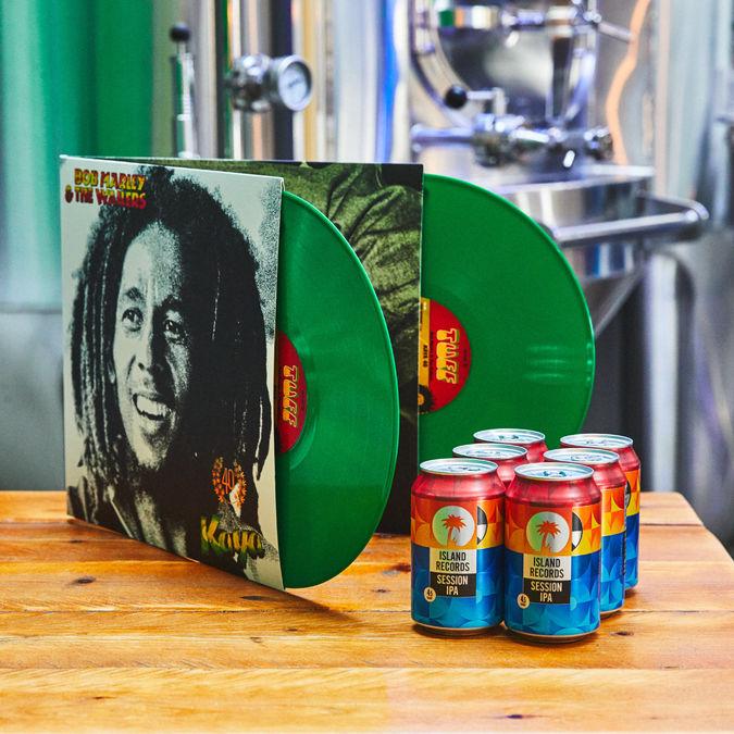 Bob Marley and The Wailers: Kaya Green Coloured Vinyl + Island Records Session IPA 6 pack