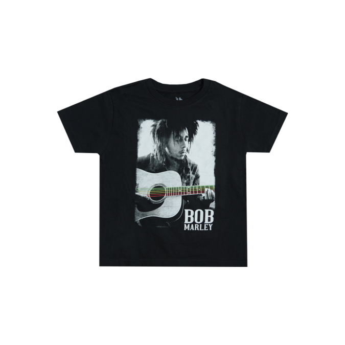 Bob Marley: Guitar Marley Toddler Black T-Shirt 4YR
