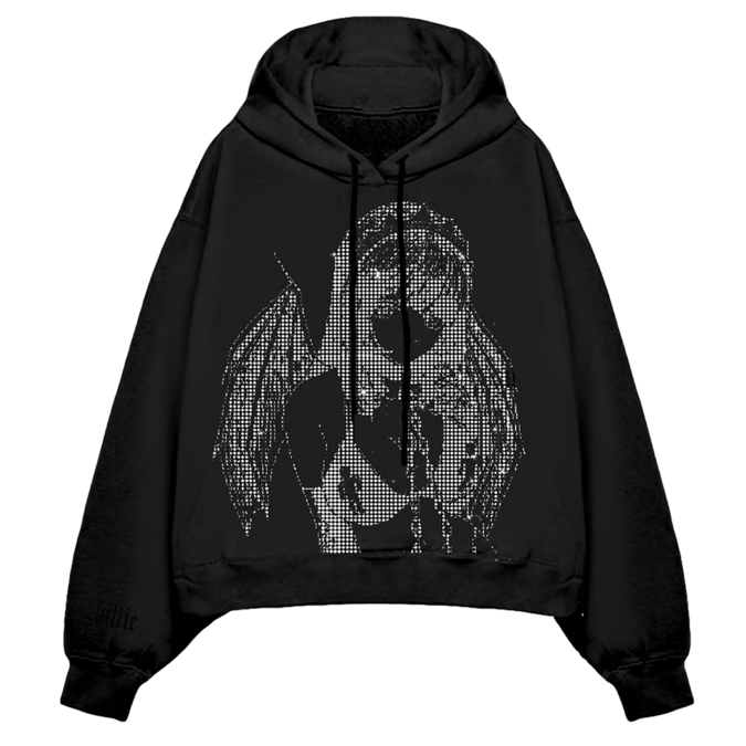 Billie Eilish: Princess Blurry Rhinestone Hoodie