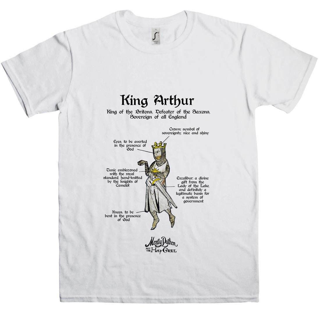 33c1a95c6 Monty Python: Holy Grail King Arthur T-Shirt