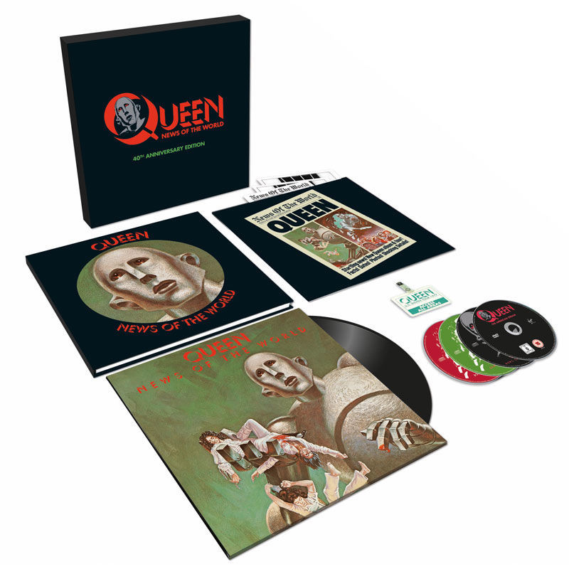 f59b4a6fec6 Queen  News Of The World 40th Anniversary Edition With Exclusive Free Art  Print
