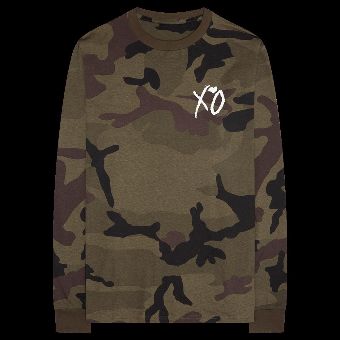 The Weeknd: XO Hand Logo Camo Longsleeve