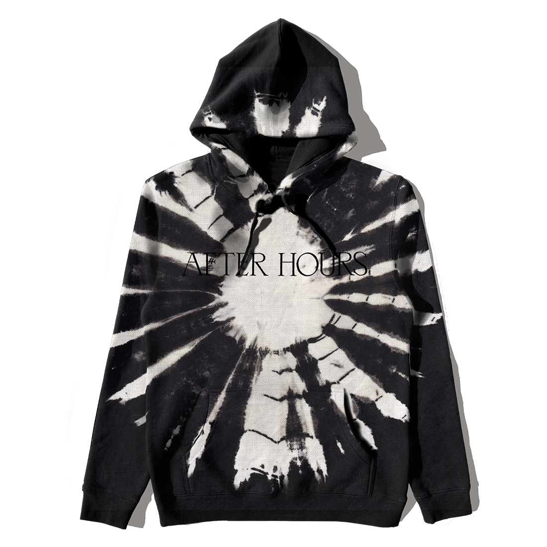 The Weeknd: AFTER HOURS BLACK DYE PULLOVER HOOD