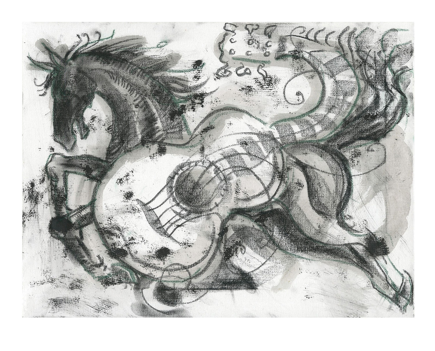 Ronnie Wood: Horse And Guitar Study 2