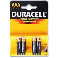 Duracell AAA Size Batteries x 4 - Peter Rabbit Gifts