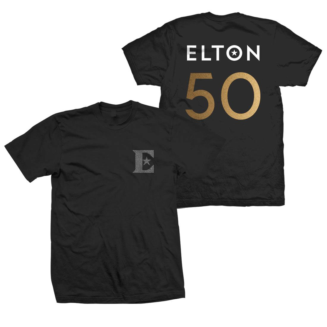 Elton John: Diamante Logo Anniversary T-Shirt