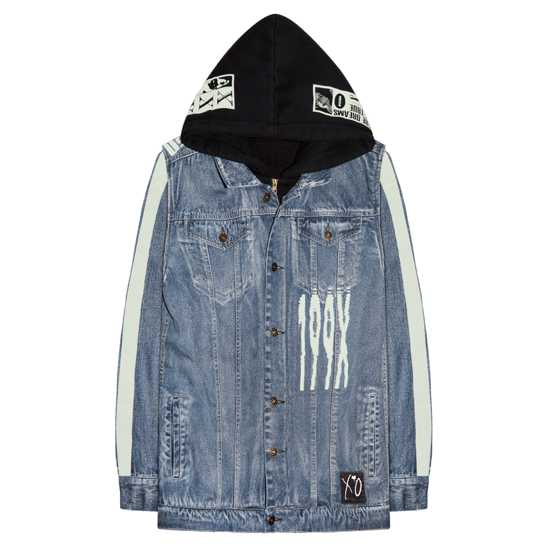 The Weeknd: SCANNERS HOODED DENIM JACKET - S