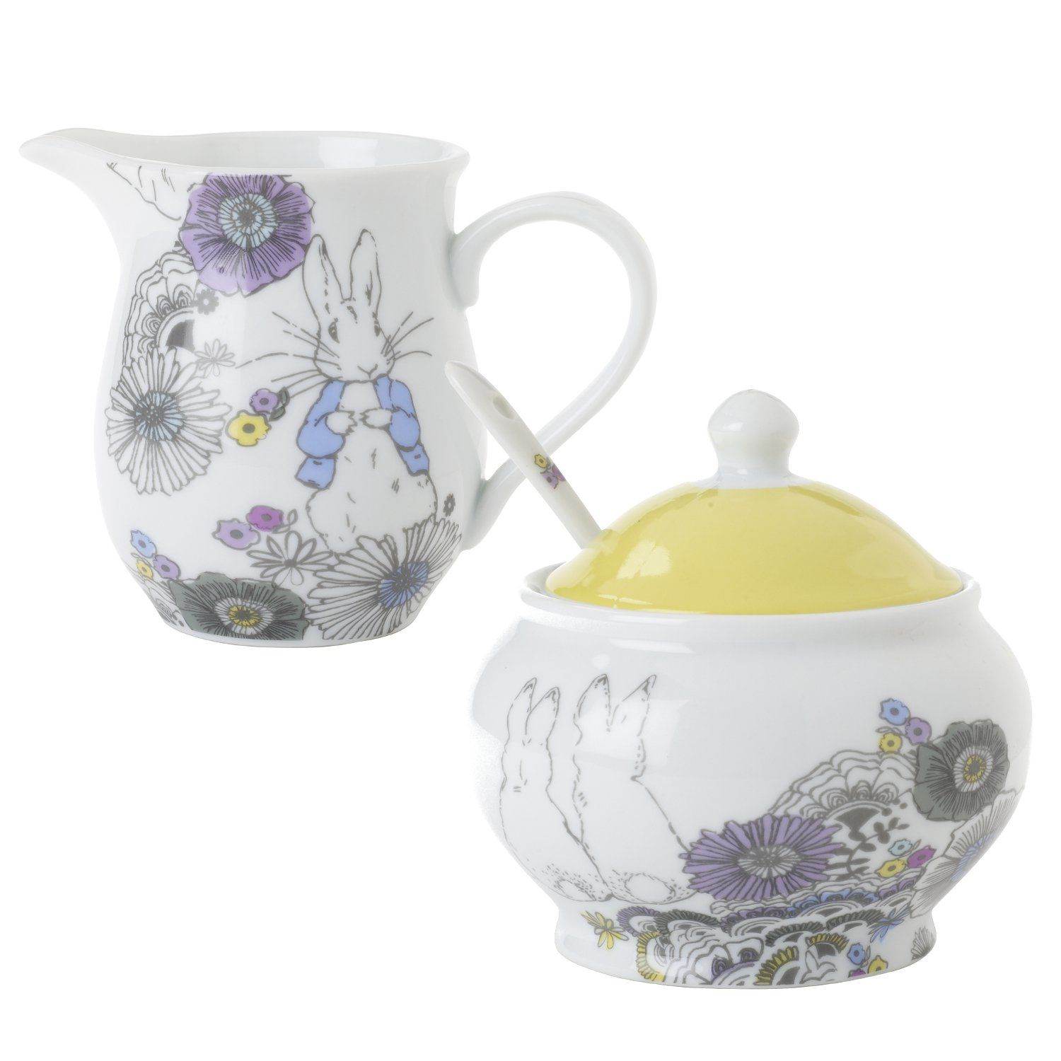 Peter Rabbit Peter Rabbit Contemporary Creamer and Sugar Bowl Set