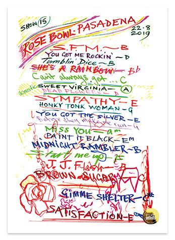 Ronnie Wood: Show 15, Rose Bowl, Pasadena 22 Aug 2019 Lithograph