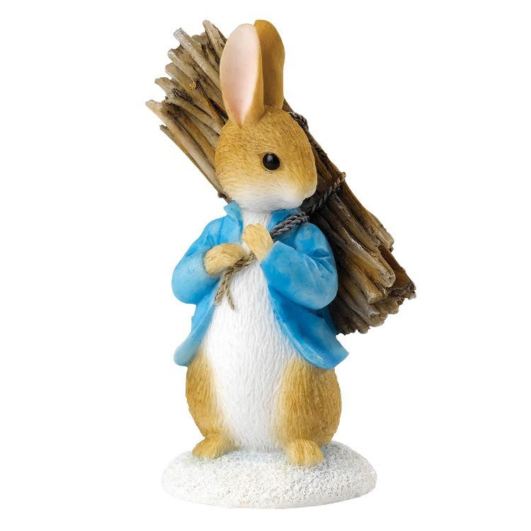 Peter Rabbit Peter Rabbit Carrying Sticks - 7.5cm Miniature Figurine