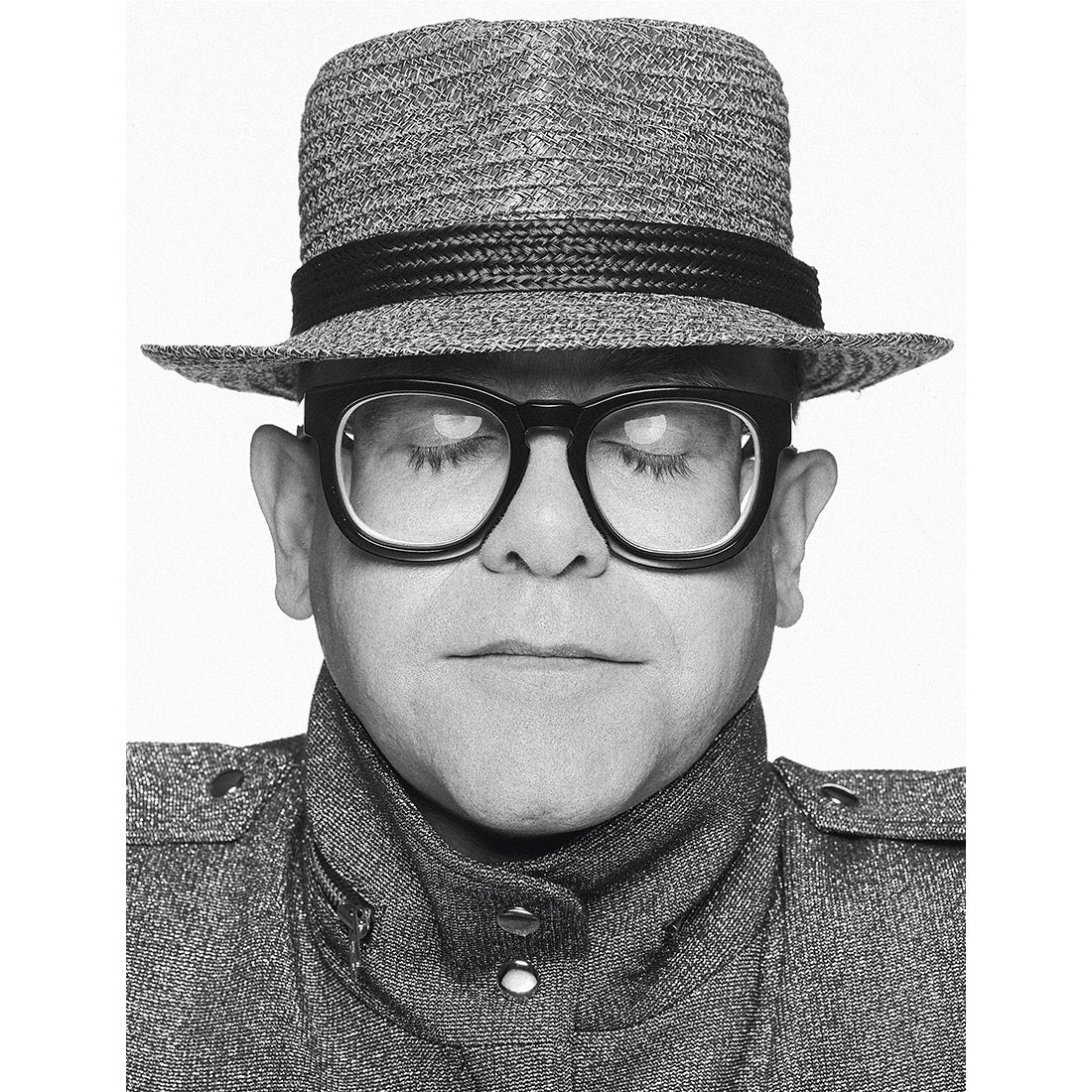 Elton John: Elton B&W Portrait - Terry O'Neill Fine Art Print 20