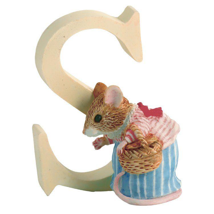 Mrs Tittlemouse Alphabet Letter S - Mrs. Tittlemouse - Peter Rabbit Gifts