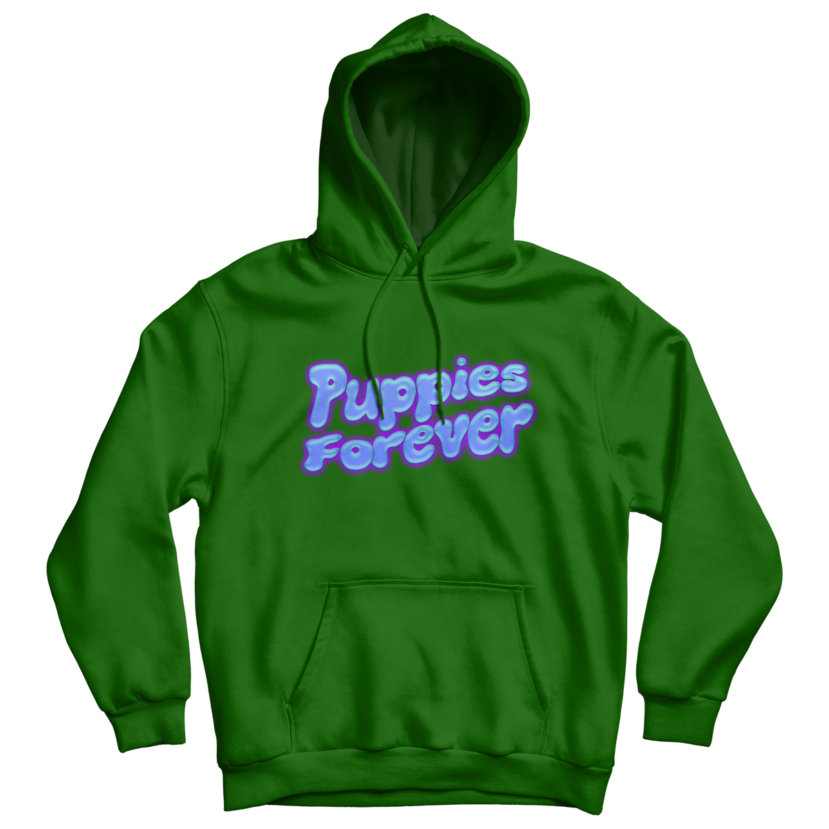 BLACKSTARKIDS: Puppies Forever Green Hoodie