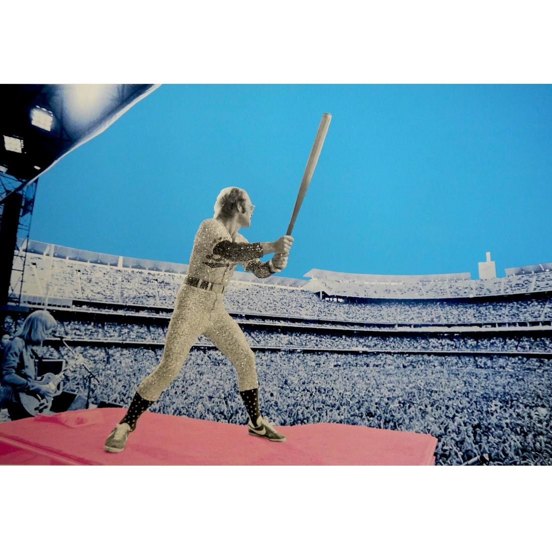 Elton John: 'Elton John : Home Run' - Dodger Stadium 1975 (signed by David Studwell)