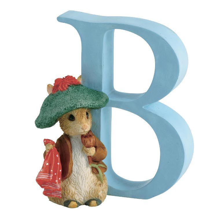Benjamin Bunny Alphabet Letter B - Benjamin Bunny - Peter Rabbit Gifts