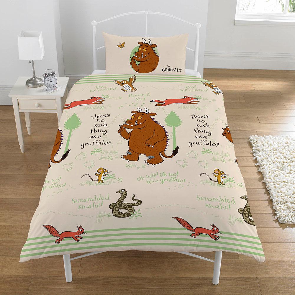 Beds The Gruffalo Gruffalo Woodland Scene Single Duvet Set