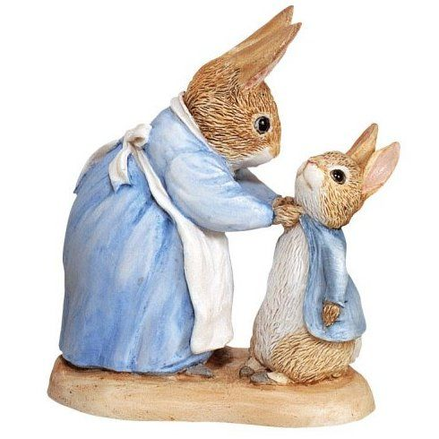 Mrs Rabbit, Peter Rabbit Mrs Rabbit and Peter - 7cm Miniature Figurine