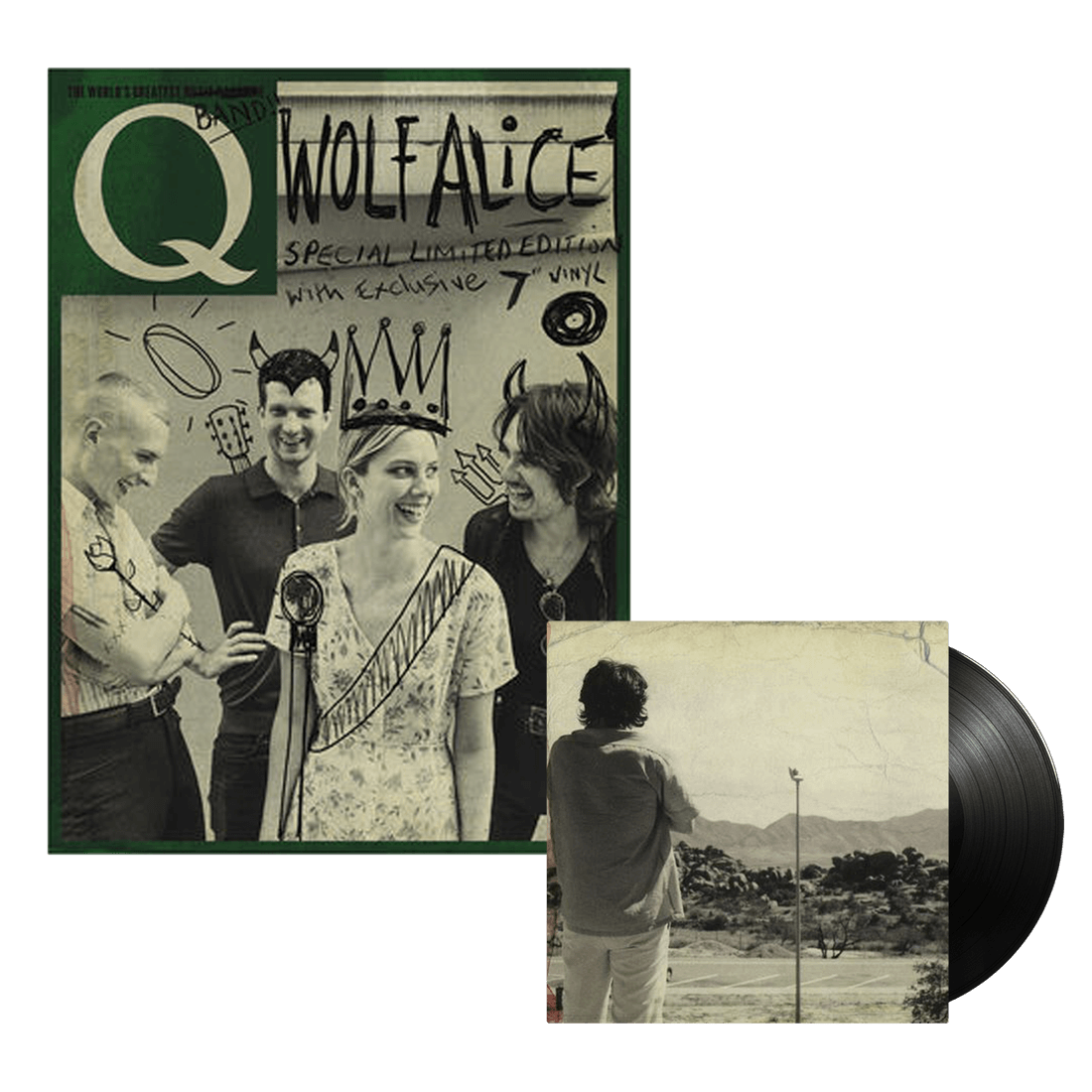 "Wolf Alice: Special Limited Edition Q Magazine with Exclusive 7"" Vinyl"