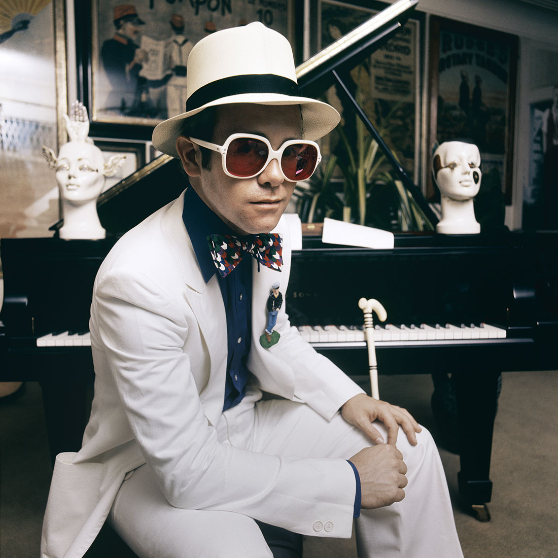 Elton John: Greatest Hits Cover Shoot 1974 - Terry O'Neill Fine Art Print 16