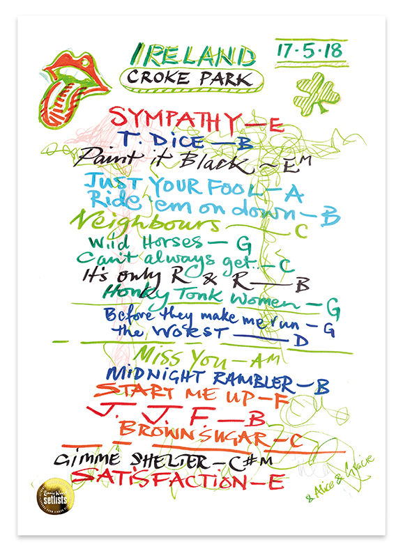 Ronnie Wood: Croke Park, Dublin 17 May 2018 Lithograph