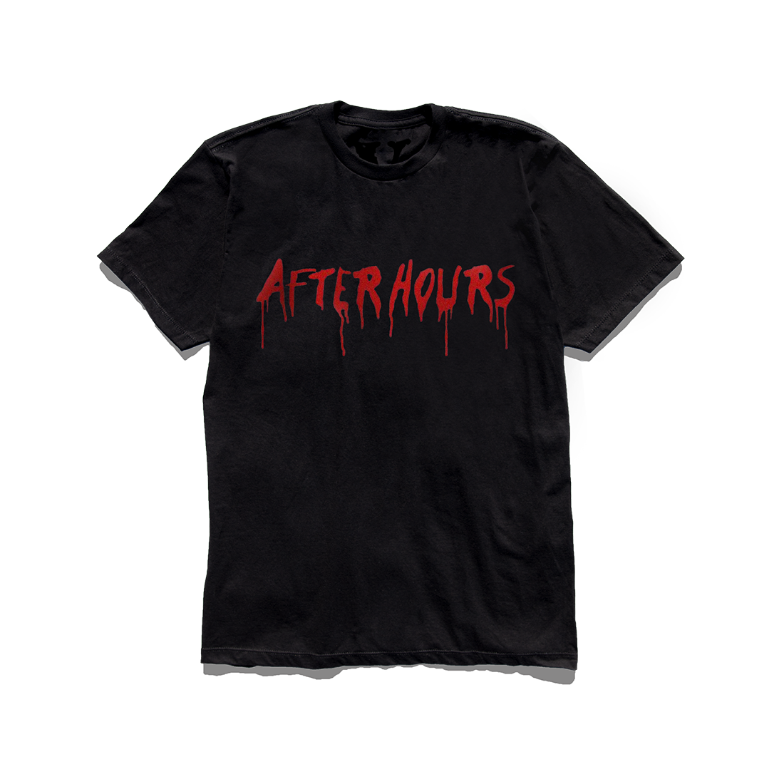 The Weeknd: VLONE AFTER HOURS BLOOD DRIP TEE BLACK