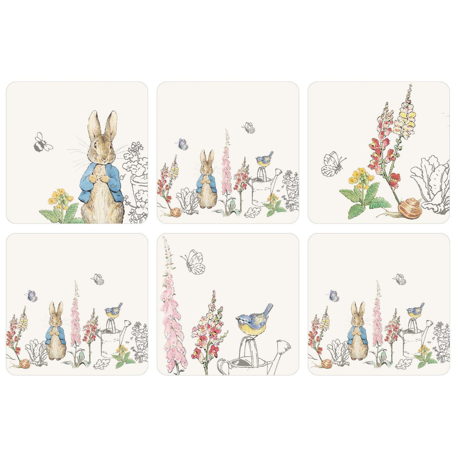 Peter Rabbit Peter Rabbit Classic Coasters (Set of 6)