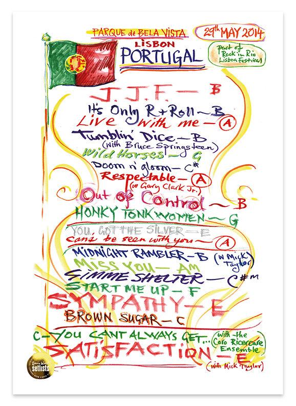 Ronnie Wood: Show 9, Parque da Bela Vista, Lisbon Portugal 29 May 2014 Lithograph