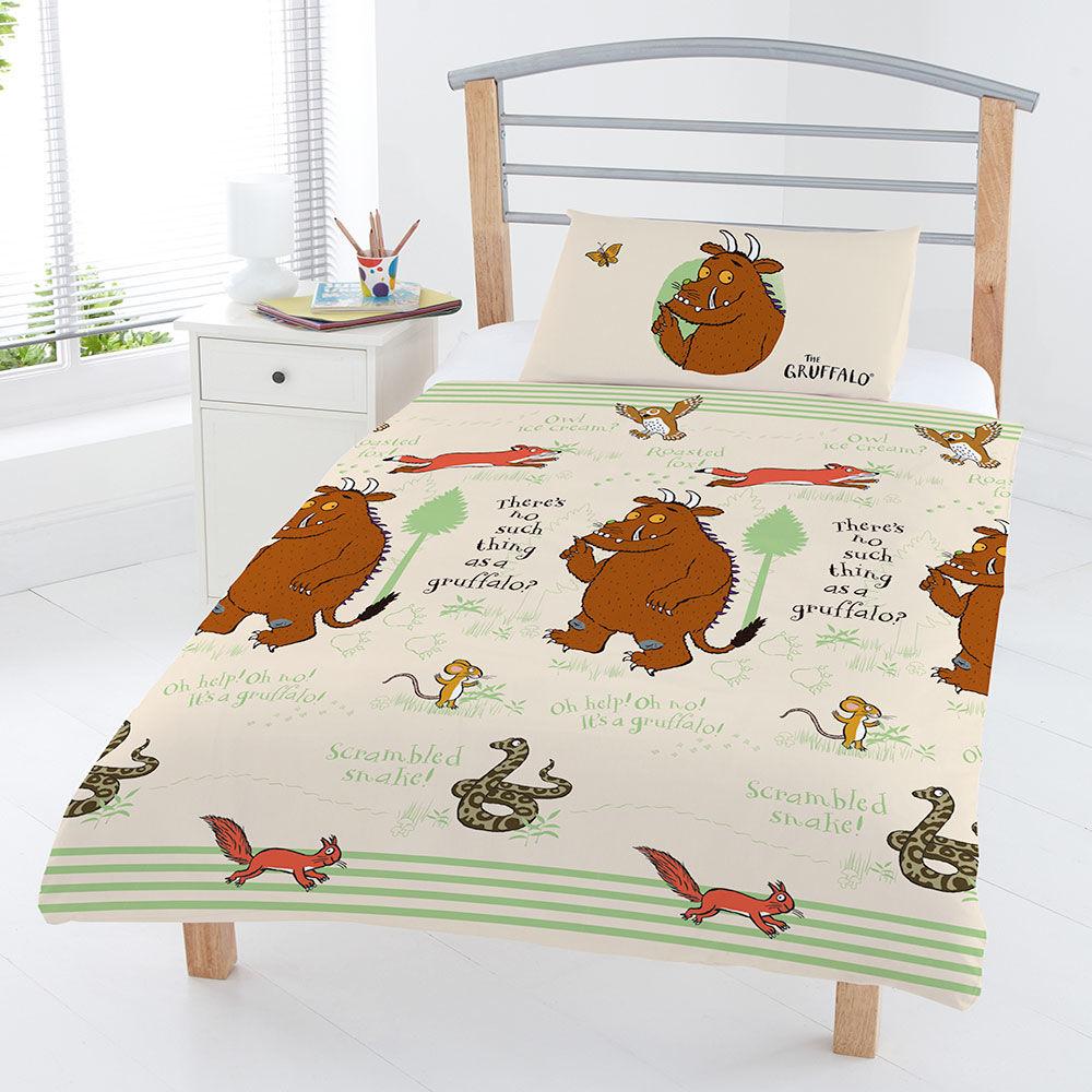 Beds The Gruffalo Gruffalo Woodland Scene Junior Duvet Set
