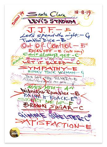 Ronnie Wood: Show 14, Levi's Stadium, Santa Clara 18 Aug 2019 Lithograph