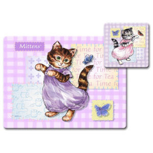 Peter Rabbit Mittens Placemat and Coaster Set - Peter Rabbit Gifts