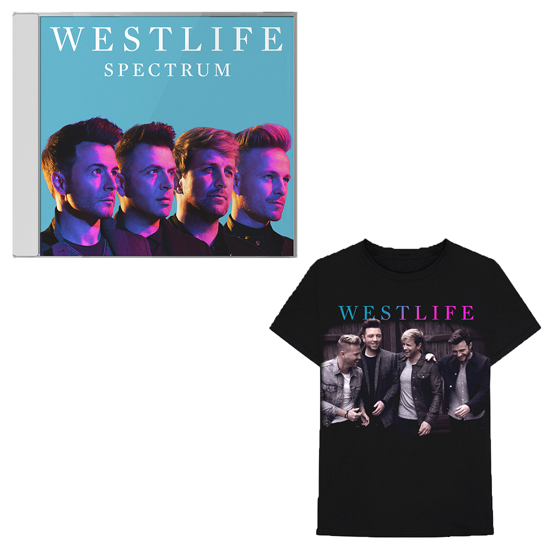 Westlife: Spectrum CD + Tee