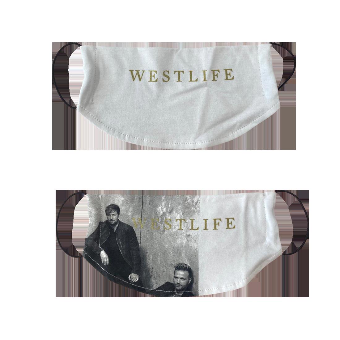 Westlife: PAIR OF RECYCLED WESTLIFE FACEMASKS