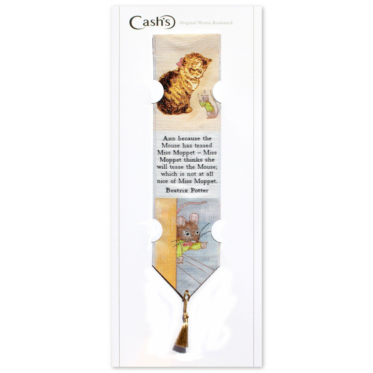 Peter Rabbit Mrs Moppet Woven Bookmark