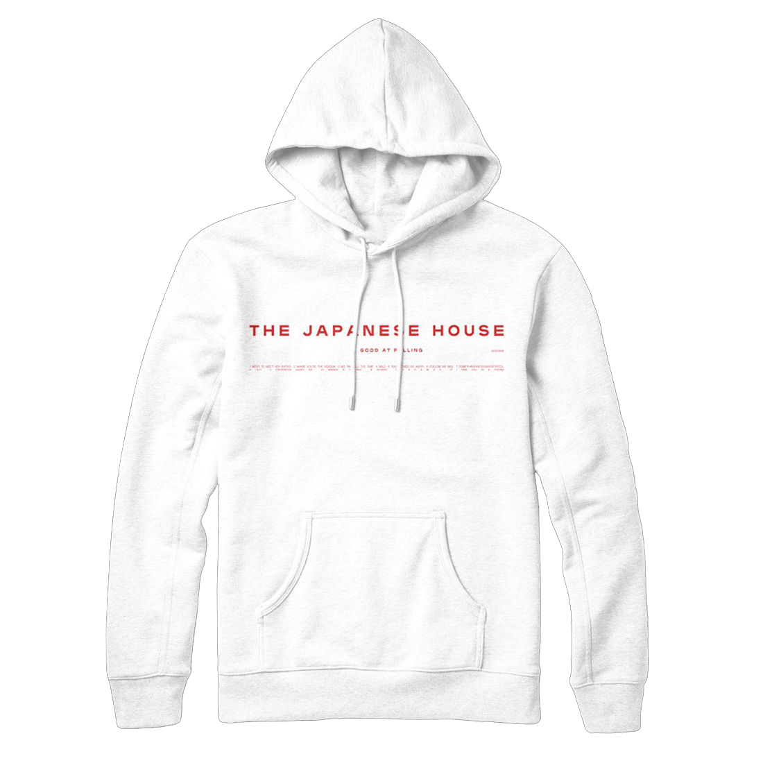 The Japanese House: GOOD AT FALLING WHITE HOODIE