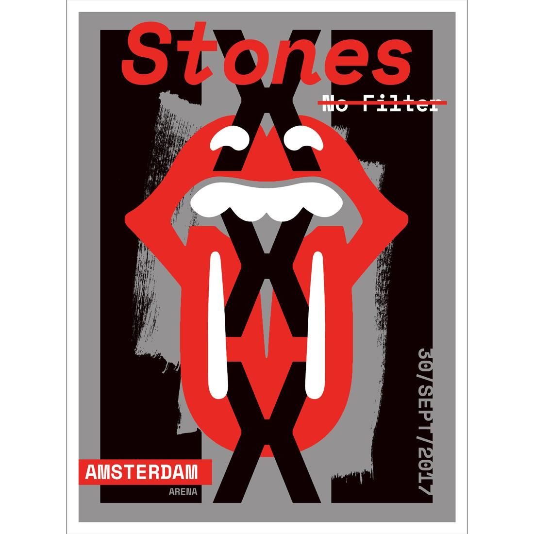 Art The Rolling Stones Amsterdam Print