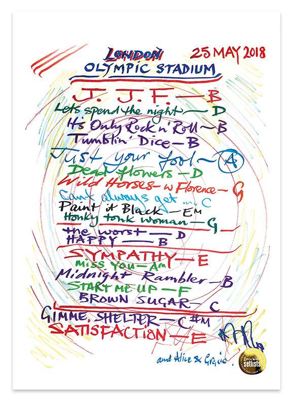 Ronnie Wood: London Stadium, London 25 May 2018 Lithograph