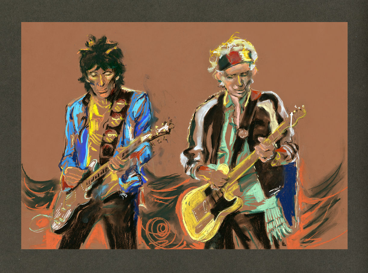 Ronnie Wood: Weaving (With personal dedication message)