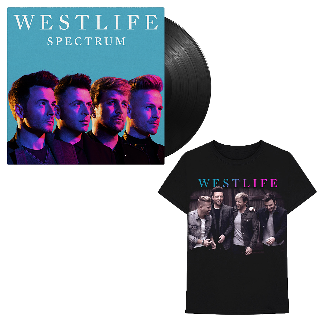 Westlife: Spectrum LP + Tee